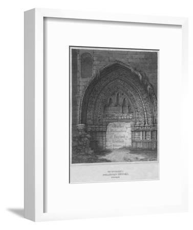'West Entrance to Holyrood Chapel, Edinburgh', 1814-John Greig-Framed Giclee Print