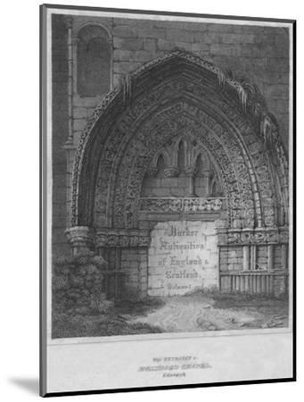 'West Entrance to Holyrood Chapel, Edinburgh', 1814-John Greig-Mounted Giclee Print