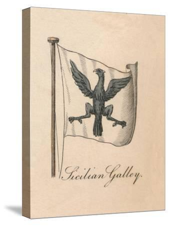 'Sicilian Galley', 1838-Unknown-Stretched Canvas Print