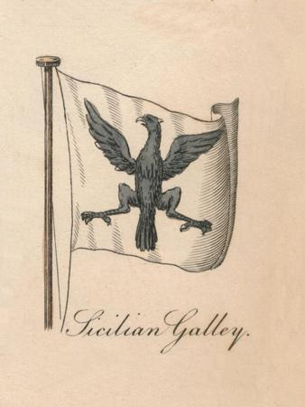'Sicilian Galley', 1838-Unknown-Framed Giclee Print