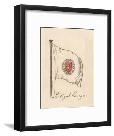 'Portugal Ensign', 1838-Unknown-Framed Giclee Print