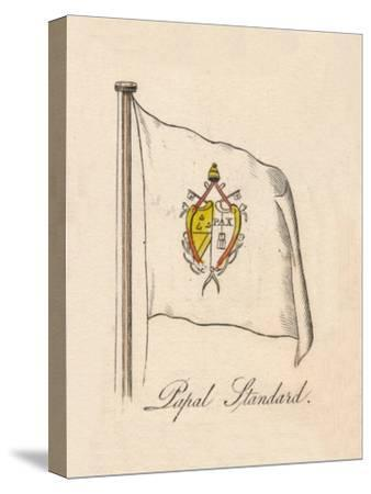 'Papal Standard', 1838-Unknown-Stretched Canvas Print