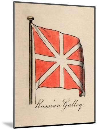 'Russian Galley', 1838-Unknown-Mounted Giclee Print