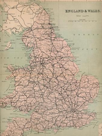 'England & Wales', 1859-Unknown-Framed Giclee Print