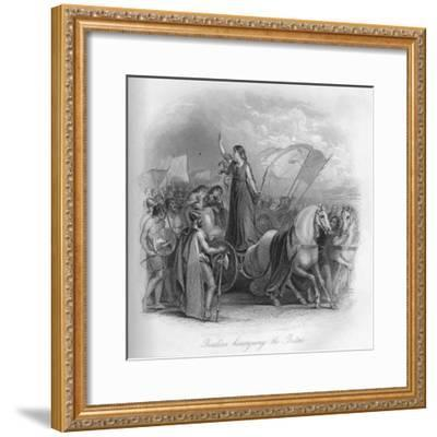 'Boadicea haranguing the Britons', 1859-Unknown-Framed Giclee Print