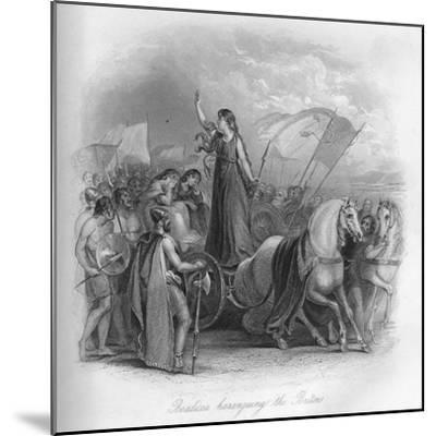 'Boadicea haranguing the Britons', 1859-Unknown-Mounted Giclee Print