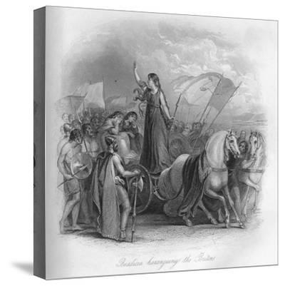 'Boadicea haranguing the Britons', 1859-Unknown-Stretched Canvas Print