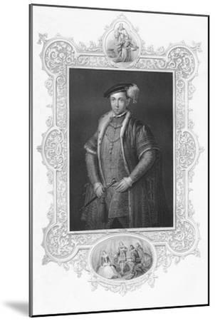 'Edward VI', 1859-Unknown-Mounted Giclee Print