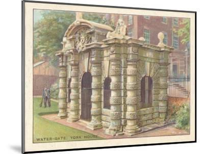'Water-Gate, York House', 1929-Unknown-Mounted Giclee Print