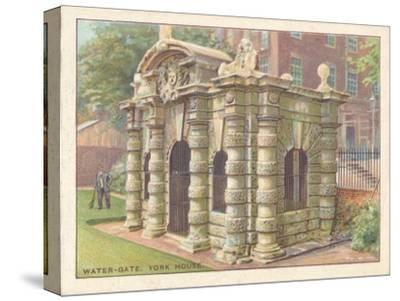 'Water-Gate, York House', 1929-Unknown-Stretched Canvas Print