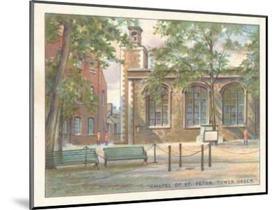 'Chapel of St. Peter, Tower Green', 1929-Unknown-Mounted Giclee Print
