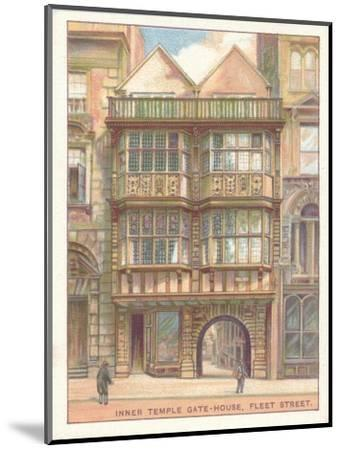 'Inner Temple Gate-House, Fleet Street', 1929-Unknown-Mounted Giclee Print