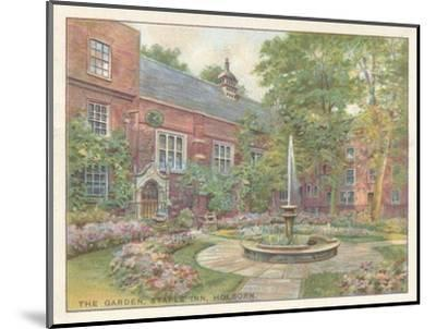 'The Garden, Staple Inn, Holborn', 1929-Unknown-Mounted Giclee Print