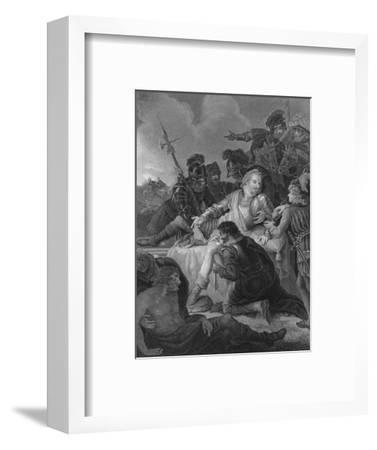 'Death of Sir Philip Sidney', 1859-Herbert Bourne-Framed Giclee Print