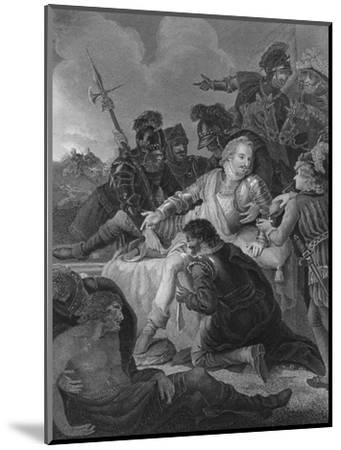 'Death of Sir Philip Sidney', 1859-Herbert Bourne-Mounted Giclee Print