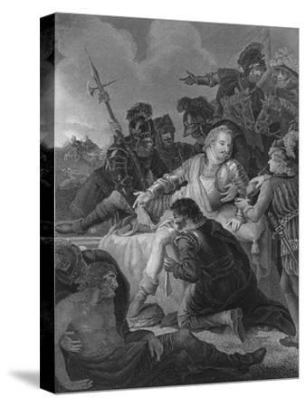 'Death of Sir Philip Sidney', 1859-Herbert Bourne-Stretched Canvas Print