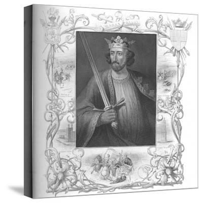 'Edward I', 1859-Unknown-Stretched Canvas Print