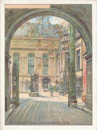 'Stationers' Hall, Paternoster Row', 1929-Unknown-Framed Giclee Print