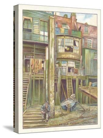 'An Old Tavern, Limehouse', 1929-Unknown-Stretched Canvas Print