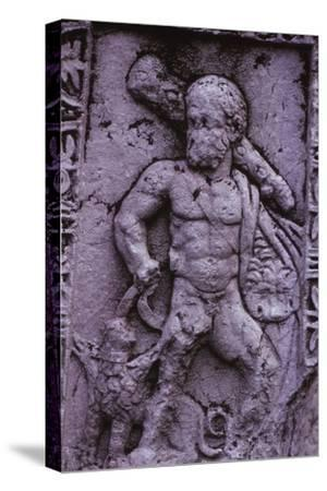 Hercules with Cerberus from a Sarcophagus in Asia Minor (Hellenstic Period), 20th century-Unknown-Stretched Canvas Print