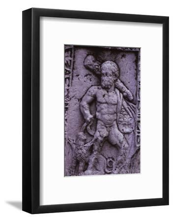 Hercules with Cerberus from a Sarcophagus in Asia Minor (Hellenstic Period), 20th century-Unknown-Framed Photographic Print
