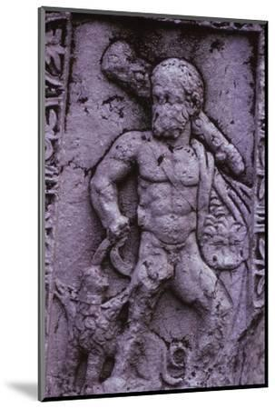 Hercules with Cerberus from a Sarcophagus in Asia Minor (Hellenstic Period), 20th century-Unknown-Mounted Photographic Print