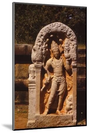 Naga King on a Guardstone at entrance to Ratanapasada, Anuradhapura, 8-9th century. (20th century)-Unknown-Mounted Photographic Print