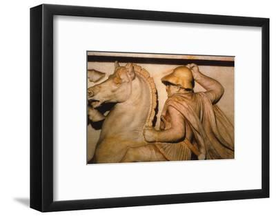 A Macedonian General fighting Persians, 4th century BC. (20th century)-Unknown-Framed Photographic Print