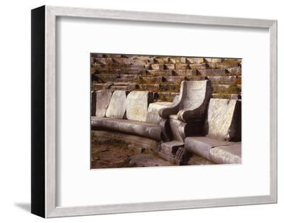 Prohedriai in the Greek Theatre of Priene, Turkey, 20th century-Unknown-Framed Photographic Print