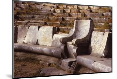 Prohedriai in the Greek Theatre of Priene, Turkey, 20th century-Unknown-Mounted Photographic Print