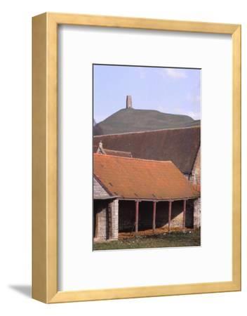 Glastonbury Tor and Ancient Tithe Barn, Somerset, 20th century-CM Dixon-Framed Photographic Print