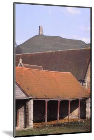 Glastonbury Tor and Ancient Tithe Barn, Somerset, 20th century-CM Dixon-Mounted Photographic Print
