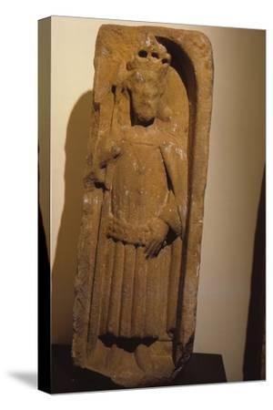 Relief figure of King Olaf, from St. Magnus Cathedral, Kirkwall, Orkney, 20th century-Unknown-Stretched Canvas Print