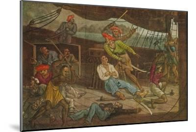 'Ships Attacked by Pirates', c1808-Unknown-Mounted Giclee Print