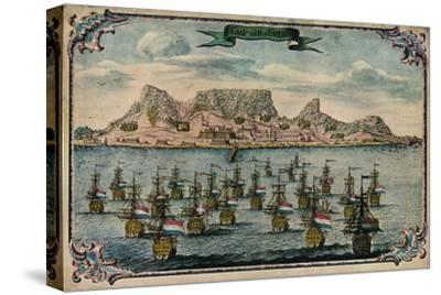 'Cape Town', c1680-Unknown-Stretched Canvas Print
