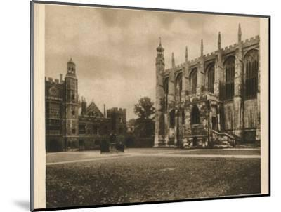 'Eton College', 1923-Unknown-Mounted Photographic Print