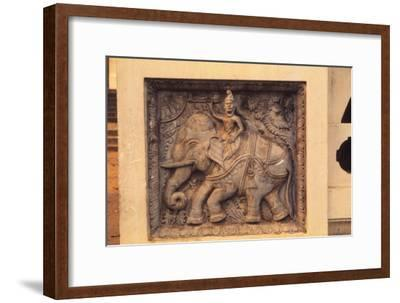 Guard Stone Figure at Entrance of Buddhist Temple, Sri Lanka, 20th century-Unknown-Framed Giclee Print