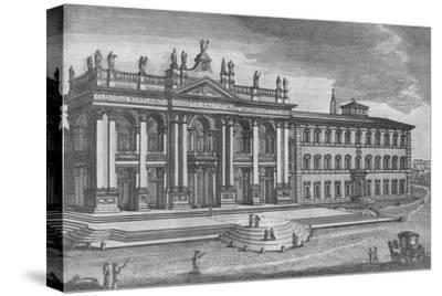'Basilica di San Giovanni in Laterano. Basilique de St. Jean de Latran', c19th century-Unknown-Stretched Canvas Print