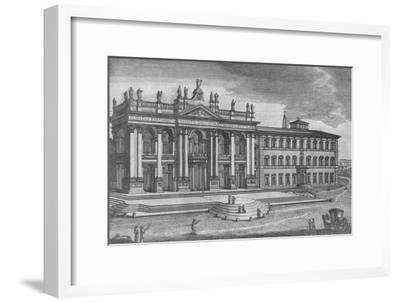'Basilica di San Giovanni in Laterano. Basilique de St. Jean de Latran', c19th century-Unknown-Framed Giclee Print