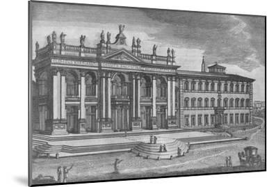'Basilica di San Giovanni in Laterano. Basilique de St. Jean de Latran', c19th century-Unknown-Mounted Giclee Print