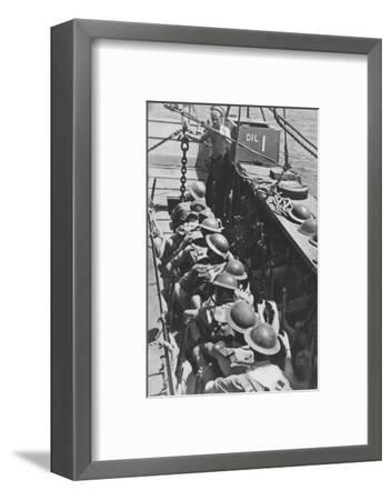 'Sea-borne Assault: Troops Move In To Madagascar', 1940-1942, (1943)-Unknown-Framed Photographic Print
