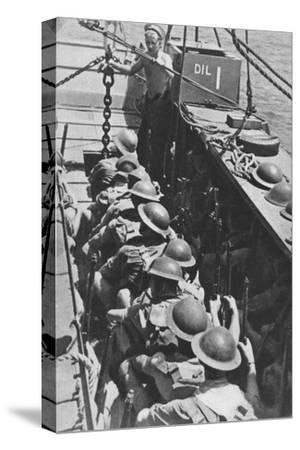 'Sea-borne Assault: Troops Move In To Madagascar', 1940-1942, (1943)-Unknown-Stretched Canvas Print