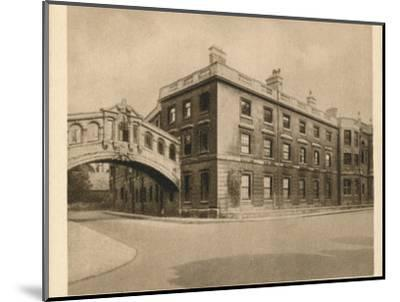 'Hertford College, Oxford', 1923-Unknown-Mounted Photographic Print