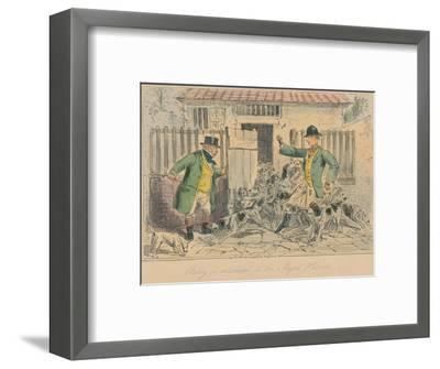 'Billy is introduced to the Major's Harriers', 1858-John Leech-Framed Giclee Print