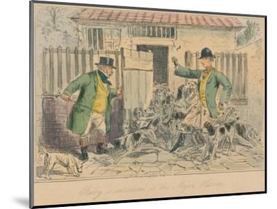 'Billy is introduced to the Major's Harriers', 1858-John Leech-Mounted Giclee Print