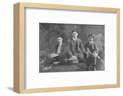 'Three Soldier Brothers', c1913, (1917)-Unknown-Framed Photographic Print