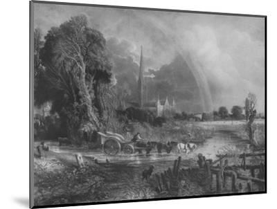 'Salisbury Cathedral from the Meadows', 1831, (1917)-Unknown-Mounted Giclee Print