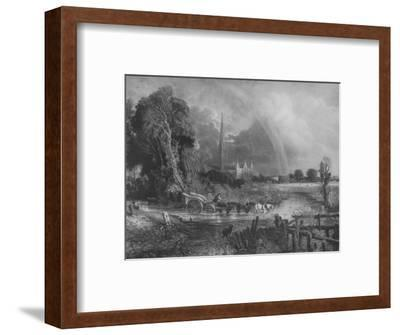 'Salisbury Cathedral from the Meadows', 1831, (1917)-Unknown-Framed Giclee Print