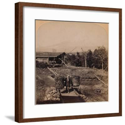 'The Sacred Fujiyama, Highest Mountain in Japan', 1896-Unknown-Framed Photographic Print