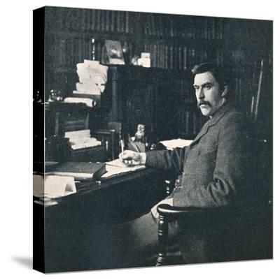 'Rev. Sylvester Horne, B.A., In His Study', 1901-Unknown-Stretched Canvas Print